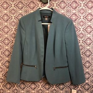 Blue Open Front Business Professional Blazer